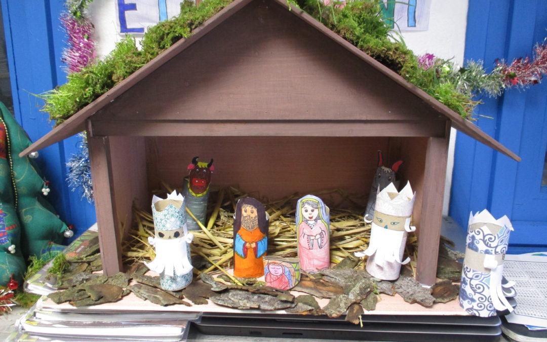 Fabrication de la crèche de Noël